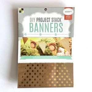 DCWV Kraft Banners Project Stack Home Party craft